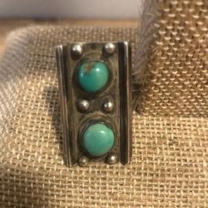 Old Pawn Sterling Silver Native American Turquoise